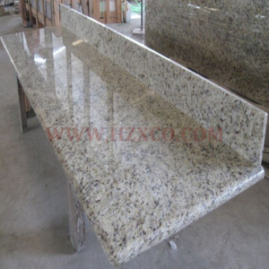 Yellow Granite Countertops with Splash board