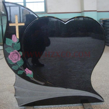 Shanxi Black Granite hearted Tombstone