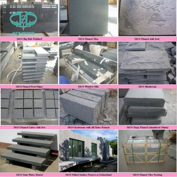 Chinese Dark Grey Granite G654 Flamed Granite Paver