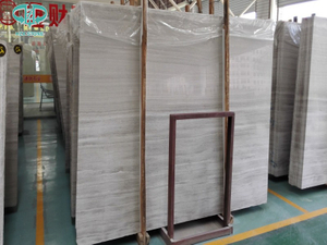 Wooden white marble ,China marble slab, wooden marble