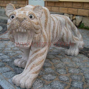 HZX-Yellow Granite Tiger Sculpture