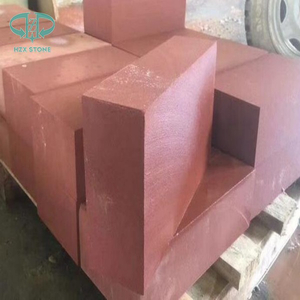 Red Sandstone kerbstone and step for building