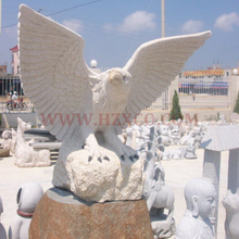 HZX-BeigeGranite Eagle Sculpture