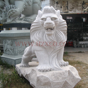 HZX-White Granite Lion Sculpture